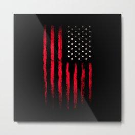 American flag Vintage Black Metal Print
