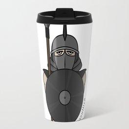 Spartan warrior stylized illustration. Warrior with javelin. Travel Mug