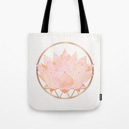 Blush Zen Lotus ~ Metallic Accents Tote Bag