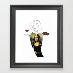 She Hearts Mona  Framed Art Print