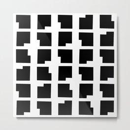 NYC Neighborhood Pattern in Black & White: Gramercy Metal Print
