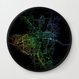 Reno NV USA City Map Rainbow City Map Art Print Wall Clock