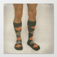 socks Canvas Prints featuring socks by tyler tyndell