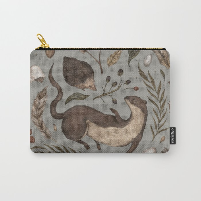Weasel and Hedgehog Carry-All Pouch