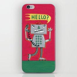 Hello? Robot iPhone Skin