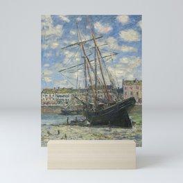 Claude Monet - Boats Lying at Low Tide at Facamp Mini Art Print