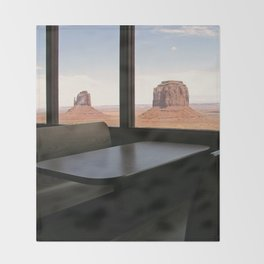 Mystic Land of Monument Valley Throw Blanket