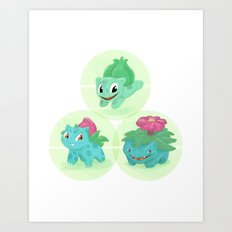 Poké: 1-2-3 Art Print