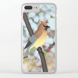 cedar waxwing - bokeh Clear iPhone Case
