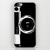camera iPhone & iPod Skins featuring Camera by Maressa Andrioli