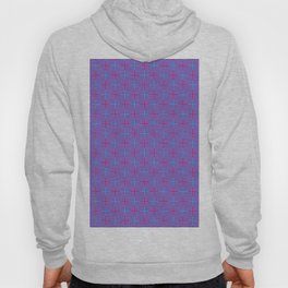 Geometrical abstract pink teal stripes squares pattern Hoody