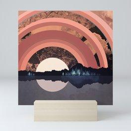 Forest Night Reflection Mini Art Print