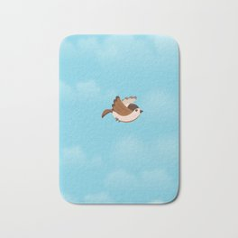 Little Flying Sparrow Bath Mat