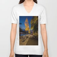 pittsburgh V-neck T-shirts featuring PITTSBURGH FALL by Stephanie Bosworth