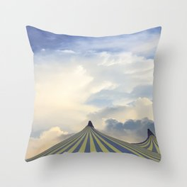 Turrets in the Clouds Throw Pillow