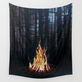 Campfie Strories Wall Tapestry