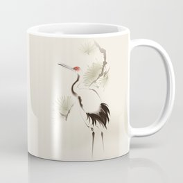 Oriental Red-Crowned Crane 002 Coffee Mug