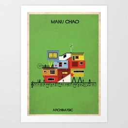 Manu Chao Art Print