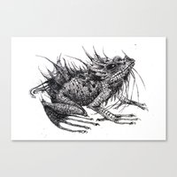 frog Canvas Prints featuring frog by Gemma Tegelaers