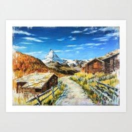 Matterhorn print for sale Art Print