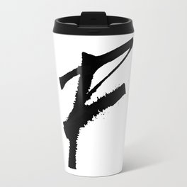 Letter F Ink Monogram Travel Mug
