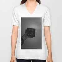 lorde V-neck T-shirts featuring Lorde  by Susan Lewis