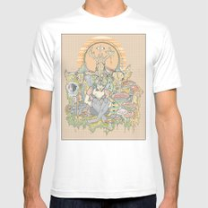 gilded cage White MEDIUM Mens Fitted Tee