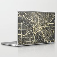 dallas Laptop & iPad Skins featuring Dallas map by Map Map Maps
