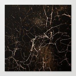 Spider Web Print Grunge Dark Texture Canvas Print