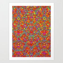 Verre Colore Pattern Art Print