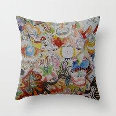 super skribb Throw Pillow