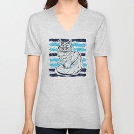 Cat stripes Unisex V-Neck