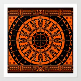 Ancestors (Orange) Art Print
