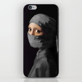 Ninja with a Pearl Earring Under Her Cowl iPhone Skin
