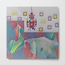 The Colorful Lamp Metal Print