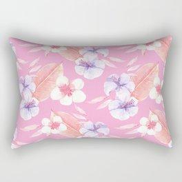 Fabulous Pink Blossom Rectangular Pillow