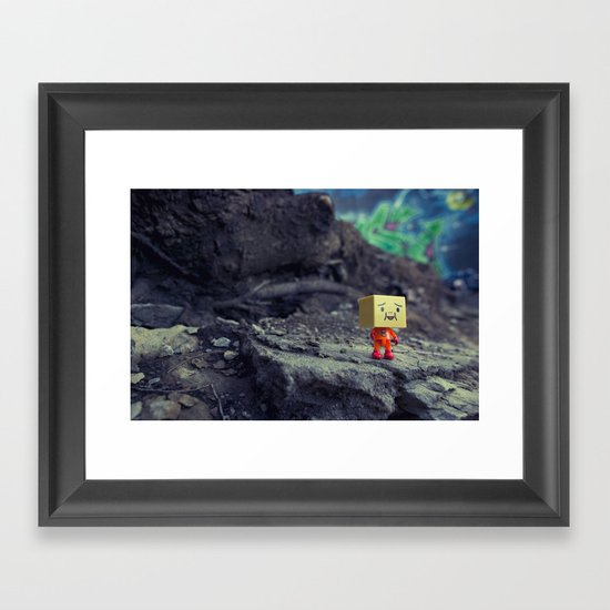 i like it here Framed Art Print