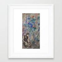 mod Framed Art Prints featuring Mod by Megan Justine Henrich