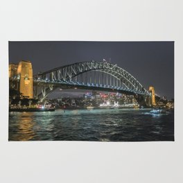 Sydney Harbour Bridge- night shot Rug