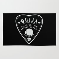 ouija Area & Throw Rugs featuring OUIJA PLANCHETTE by ANOMIC DESIGNS