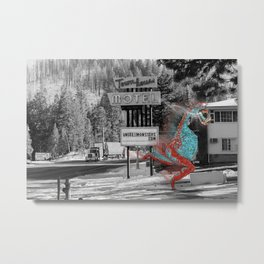 Unseen Monsters of Mount Shasta - Ukelt Anzilk Metal Print
