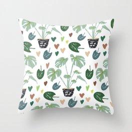 Monstera Delisciosa pot Throw Pillow