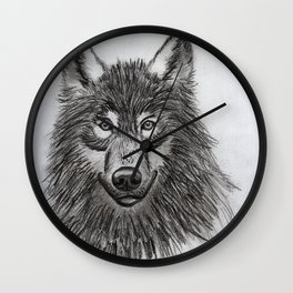 Wolf // #ScannedSeries Wall Clock