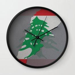 Lebanon, Outline, Map Wall Clock