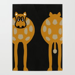 Double Ended Cow Humour Poster