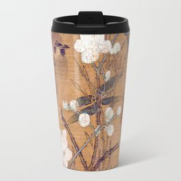 Sparrows, plum blossoms, and bamboo Travel Mug
