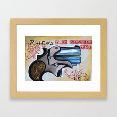 Rule #2 the Double Tap  Framed Art Print