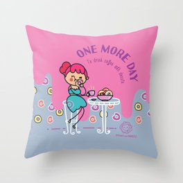 Coffee and donuts Throw Pillow
