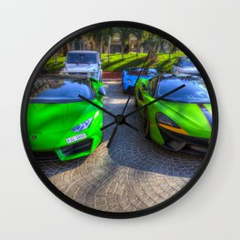 Dubai Supercars Wall Clock