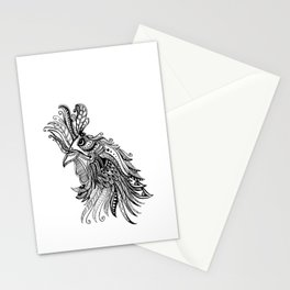 Zentangle Rooster Stationery Cards